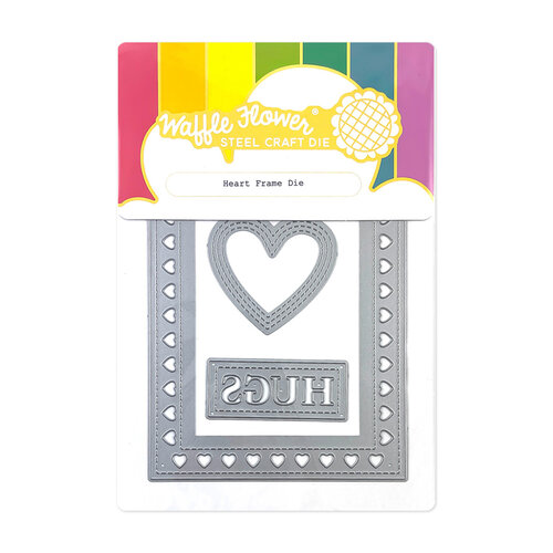 Waffle Flower Crafts - Hearts and Roses Collection - Dies - Heart Frame