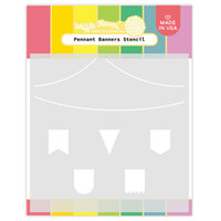 Waffle Flower Crafts - Stencils - Pennant Banners