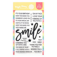 Waffle Flower Crafts - Clear Photopolymer Stamps - Oversized Smile