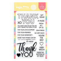 Waffle Flower Crafts - Clear Photopolymer Stamps - Thank you