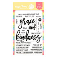 Waffle Flower Crafts - Clear Photopolymer Stamps - Oversized Grace and Kindness
