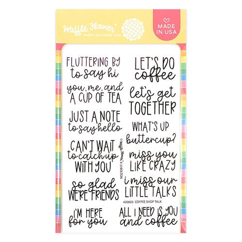 Waffle Flower Crafts - Clear Photopolymer Stamps - Coffee Shop Talk