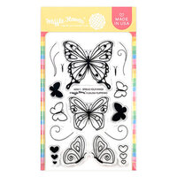 Waffle Flower Crafts - Clear Photopolymer Stamps - Spread Your Wings