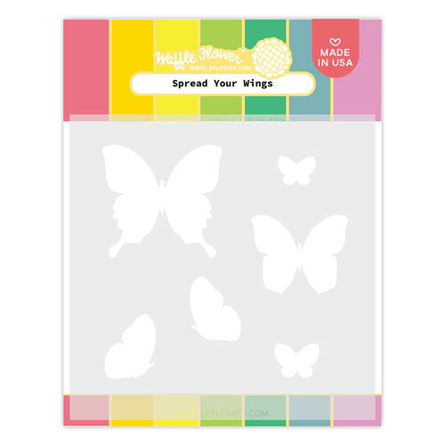 Waffle Flower Crafts - Stencils - Spread Your Wings