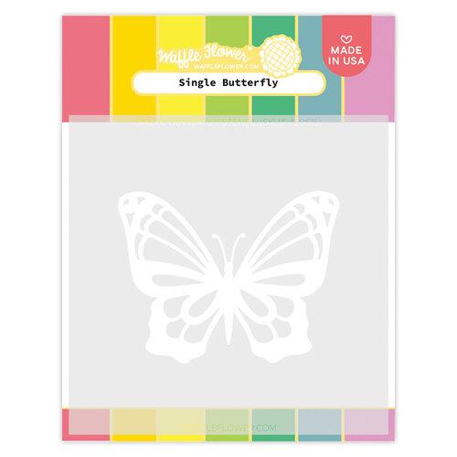 Waffle Flower Crafts - Stencils - Single Butterfly