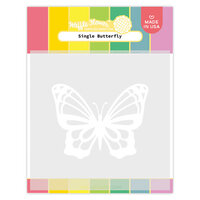 Waffle Flower Crafts - Stencils - Single Butterfly