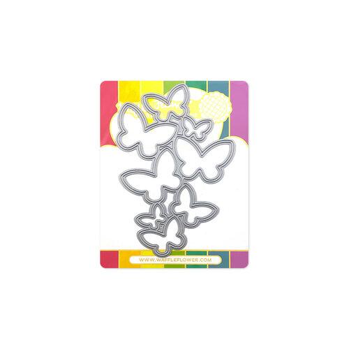 Waffle Flower Crafts - Craft Dies - Flying Butterflies