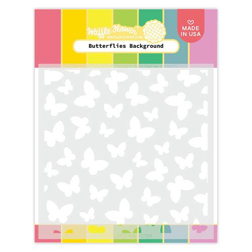 Waffle Flower Crafts - Stencils - Butterflies Background