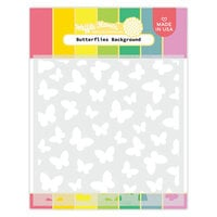 Waffle Flower Crafts - Stencils - Butterflies Background