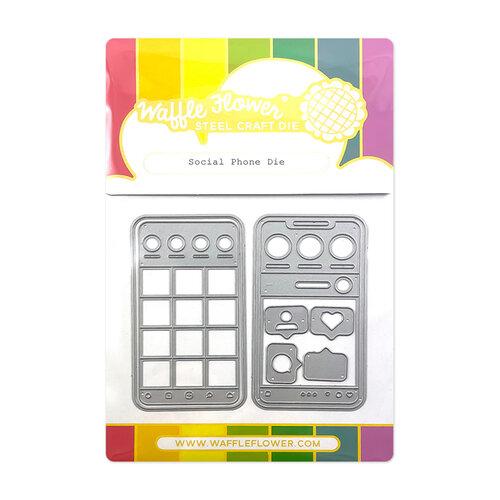 Waffle Flower Crafts - Craft Dies - Social Phone