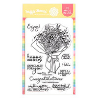 Waffle Flower Crafts - Clear Photopolymer Stamps - Wrapped Bouquet
