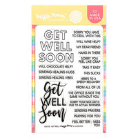 Waffle Flower Crafts - Clear Photopolymer Stamps - Get Well Sentiments