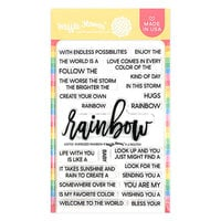 Waffle Flower Crafts - Clear Photopolymer Stamps - Oversized Rainbow