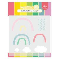 Waffle Flower Crafts - Stencils - Rustic Rainbows