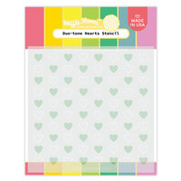 Waffle Flower Crafts - Stencils - Duo-tone Hearts