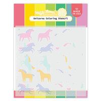 Waffle Flower Crafts - Stencils - Unicorns