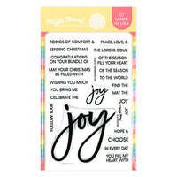 Waffle Flower Crafts - Christmas - Clear Photopolymer Stamps - Oversized Joy