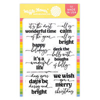 Waffle Flower Crafts - Clear Photopolymer Stamps - Wonderful Christmas