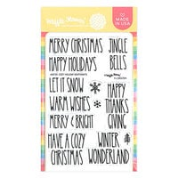 Waffle Flower Crafts - Christmas - Clear Photopolymer Stamps - Cozy Holiday Sentiments