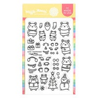 Waffle Flower Crafts - Christmas - Clear Photopolymer Stamps - Hamster Family