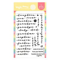 Waffle Flower Crafts - Clear Photopolymer Stamps - Lucky Family