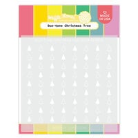 Waffle Flower Crafts - Stencils - Duo-tone Christmas Tree