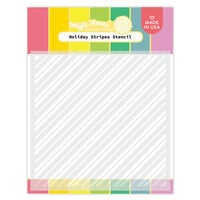 Waffle Flower Crafts - Christmas - Stencils - Holiday Stripes