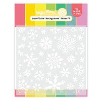 Waffle Flower Crafts - Stencils - Snowflake Background