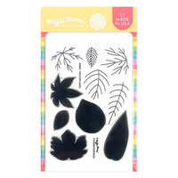 Waffle Flower Crafts - Clear Photopolymer Stamps - Two-step Leaves