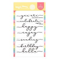Waffle Flower Crafts - Clear Photopolymer Stamps - Sentiment Additions 2