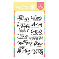 Waffle Flower Crafts - Clear Photopolymer Stamps - Essential Celebrations