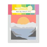 Waffle Flower Crafts - Stencils - Moon Bay Trio