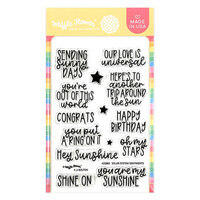 Waffle Flower Crafts - Clear Photopolymer Stamps - Solar System Sentiments