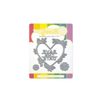 Waffle Flower Crafts - Craft Dies - Save the Date Heart
