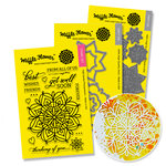 Waffle Flower Crafts - Craft Die and Acrylic Stamp Set - Lacy Flower Bundle