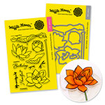 Waffle Flower Crafts - Craft Die and Acrylic Stamp Set - Lotus Bundle