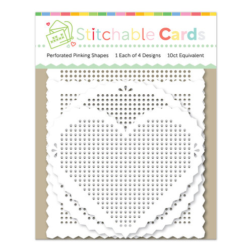 Waffle Flower Crafts - Hearts and Roses Collection - Embellishments - Stitchable Pinking Shapes