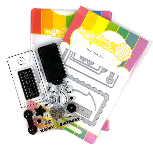 Waffle Flower Crafts - Craft Die and Photopolymer Stamp Set - Surface Tag Combo