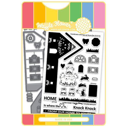 Waffle Flower Crafts - Craft Die and Acrylic Stamp Set - Flora Home