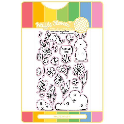 Waffle Flower Crafts - Craft Die and Acrylic Stamp Set - Spring Time