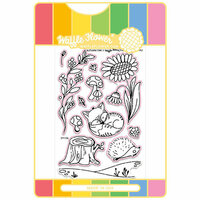 Waffle Flower Crafts - Craft Die and Acrylic Stamp Set - Autumn Time