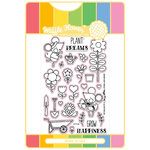 Waffle Flower Crafts - Craft Die and Acrylic Stamp Set - Grow Happiness