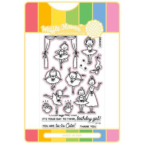 Waffle Flower Crafts - Craft Die and Acrylic Stamp Set - Tu-Tu Cute