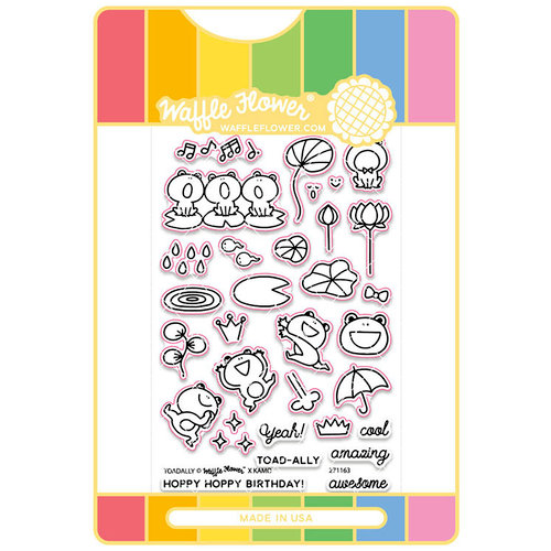 Waffle Flower Crafts - Craft Die and Acrylic Stamp Set - Toadally
