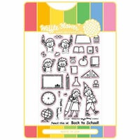 Waffle Flower Crafts - Craft Die and Acrylic Stamp Set - Pencil In