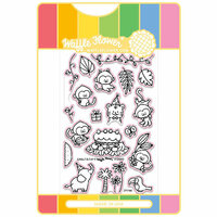 Waffle Flower Crafts - Craft Die and Acrylic Stamp Set - Jungle Birthday