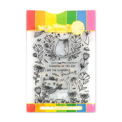 Waffle Flower Crafts - Craft Die and Acrylic Stamp Set - Smiling