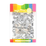Waffle Flower Crafts - Craft Die and Acrylic Stamp Set - Sandy Toes