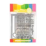 Waffle Flower Crafts - Craft Die and Acrylic Stamp Set - Rainbows and Rainbow Panel
