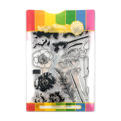 Waffle Flower Crafts - Craft Die and Acrylic Stamp Set - Carnations